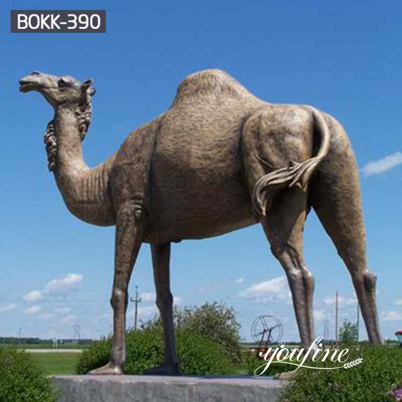 Large Bronze Camel Statue Zoo Decoration for Sale BOKK-390
