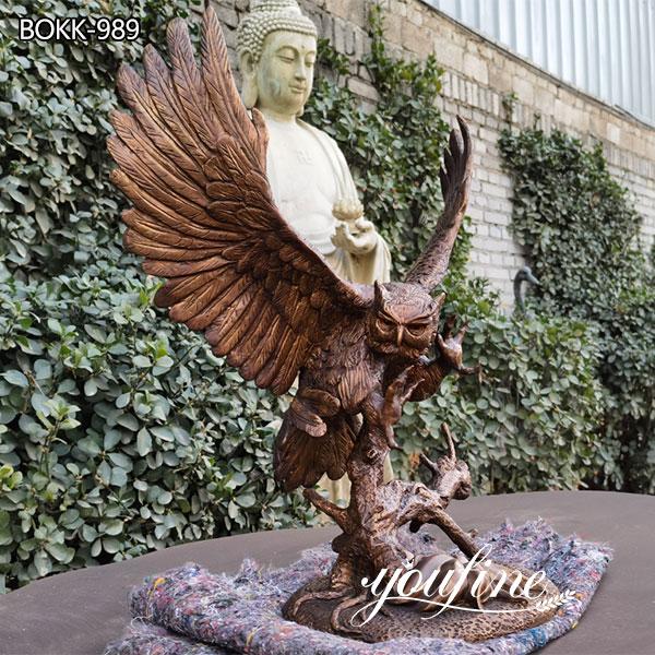 Life Size Antique Brass Eagle Statue Home Decor for Sale BOKK-989